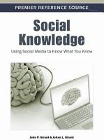 Social Knowledge  Using Social Media to Know What You Know PDF