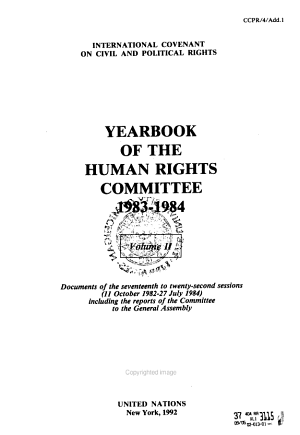 Yearbook of the Human Rights Committee PDF