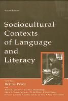 Sociocultural Contexts of Language and Literacy PDF
