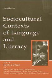 Sociocultural Contexts Of Language And Literacy Book PDF
