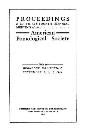 Proceedings of the     Session of the American Pomological Society PDF