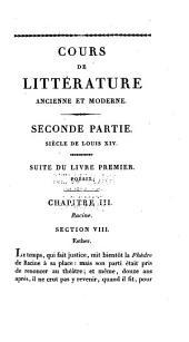 Lycée, ou Cours de littérature ancienne et moderne: Volume6