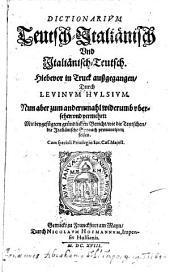Dictionarium Teutsch Italienisch