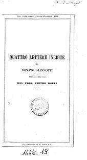 Quattro lettere inedite di Donato Giannotti