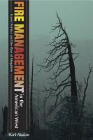 Fire Management in the American West PDF