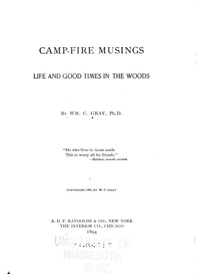 Camp fire Musings PDF