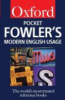 Pocket Fowler s Modern English Usage PDF