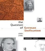 The Question of German Unification PDF