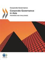 Corporate Governance in Asia 2011 Progress and Challenges PDF