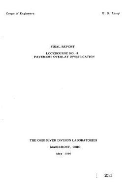 Lockbourne No  3 Pavement Overlay Investigation PDF
