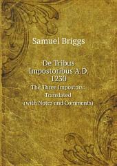 De Tribus Impostoribus A.D. 1230