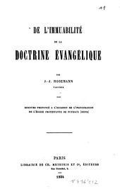 De l'immuabilité de la doctrine évangélique