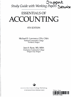 Essentials of Accounting   Working Papers PDF