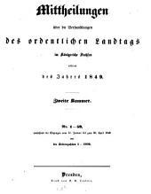 Mitteilungen über die Verhandlungen des Ordentlichen Landtags im Königreiche Sachsen: Ausgaben 1-59