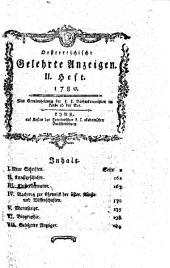 Oesterreichische gelehrte Anzeigen: 1780. II. Heft, Band 2;Band 1780