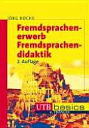 Fremdsprachenerwerb  Fremdsprachendidaktik PDF
