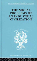 The Social Problems of an Industrial Civilization PDF