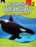 Academic Vocabulary Level 2--25 Content-Area Lessons