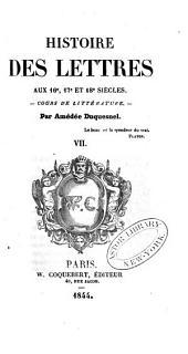 Histoire des lettres avant le christianisme: cours de littérature, Volume7