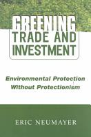 Greening Trade and Investment PDF