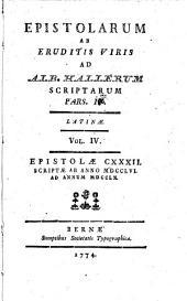 Epistolarum ab eruditis viris: Volume 4