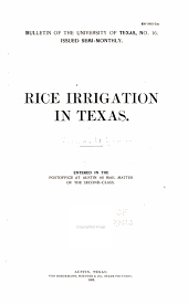 Rice Irrigation in Texas...