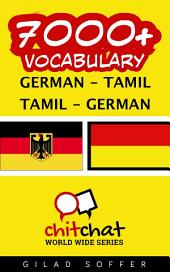 7000+ German - Tamil Tamil - German Vocabulary