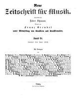 Neue zeitschrift fur Musik PDF