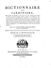 Dictionnaire des jardiniers ... :: Volume8