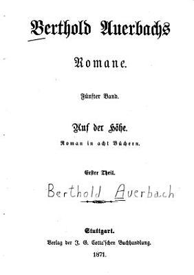 Berthold Auerbachs schriften PDF