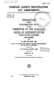 Foreign Agents Registration Act Amendments