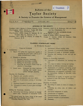 Bulletin of the Society to Promote the Science of Management: Volume 2, Issue 6