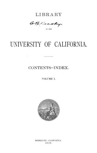 Download Library of the University of California Book