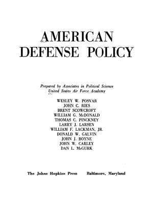 American Defense Policy