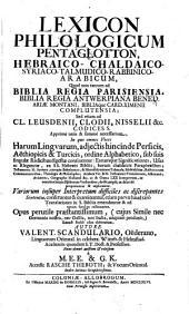 Lexicon philologicum pentaglotton