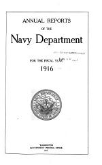 Report of the Secretary of the Navy