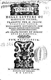 Tomo II. delle lettere di Marsilio Ficino