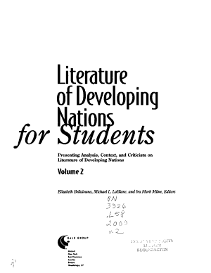 Literature of Developing Nations for Students  L Z PDF