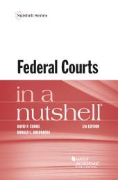Federal Courts in a Nutshell: Edition 5