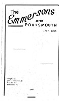 The Emmersons and Portsmouth  1737 1965 PDF