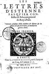 Les lettres d'Etienne Pasquier