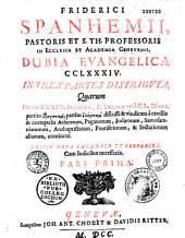 Dubia Evangelica in III partes distributa
