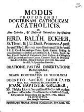 Modus proponendi doctrinam catholicam acatholicis