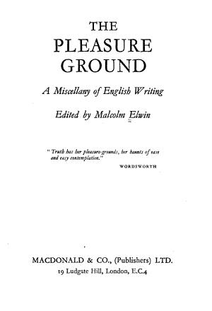 The Pleasure Ground