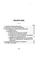 Grundlagen zur deutschen Reichsverfassung