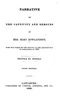 Narrative of the Captivity and Removes of Mrs  Mary Rowlandson PDF