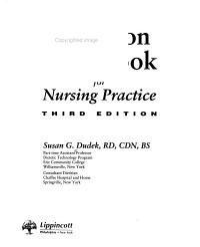 Nutrition Handbook for Nursing Practice Book