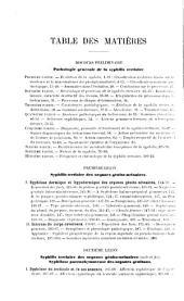 Nouvelles leçons sur les maladies vénériennes: professées à l'Hôpital du Midi; syphilis tertiaire et syphilis héréditaire