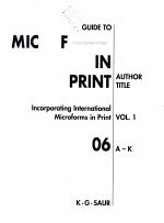 Guide to Microforms in Print 2006