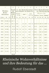 Rheinische Wohnverhältnisse und ihre Bedeutung für das Wohnungswesen in Deutschland